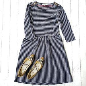Boden Navy Stripe Midi Dress 10L